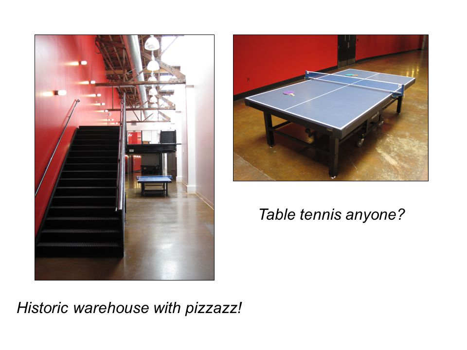 Table tennis anyone Historic warehouse with pizzazz!
