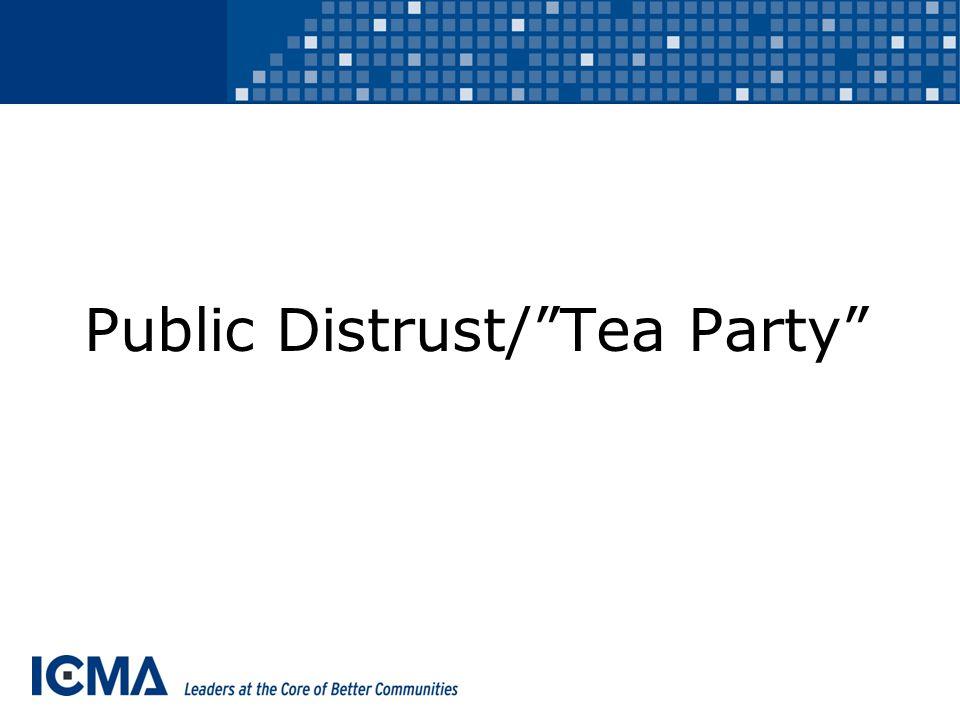 Public Distrust/ Tea Party