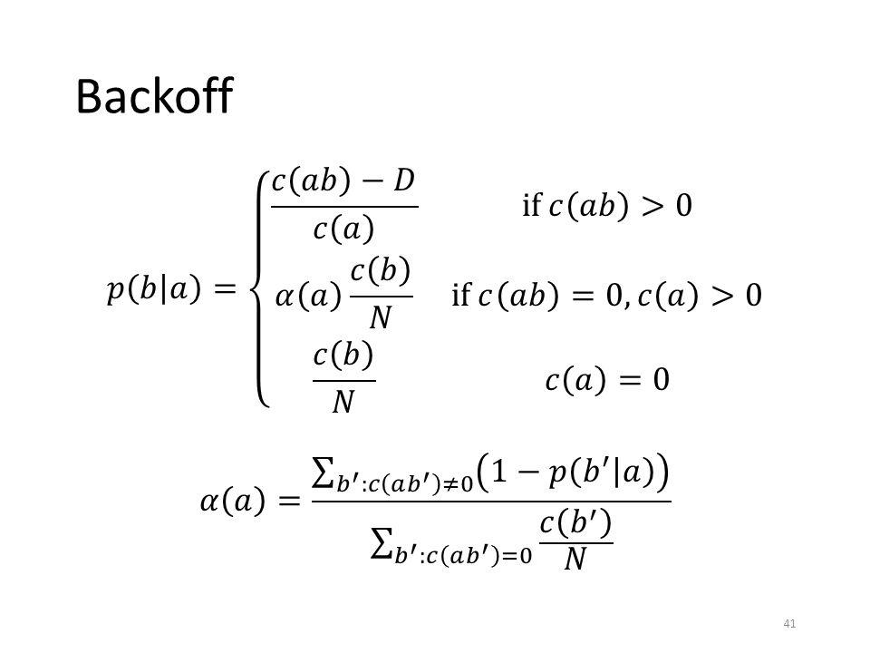 Backoff 41