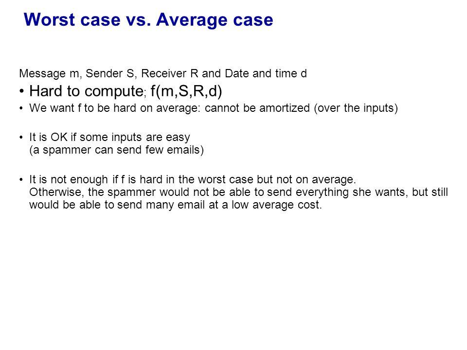 Worst case vs.