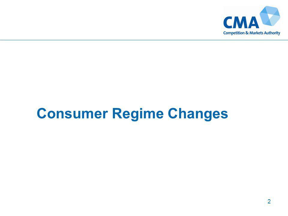 2 Consumer Regime Changes