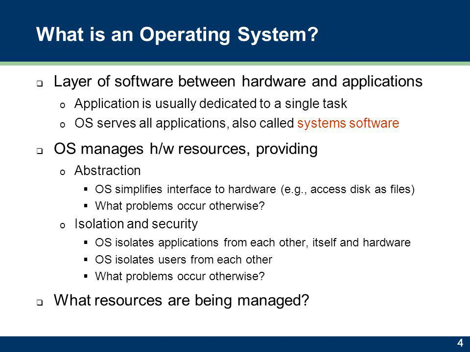 Aren't Operating Systems Dead.