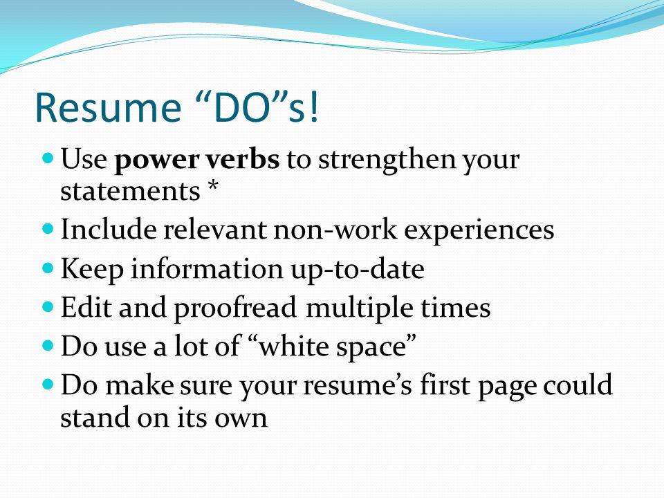 Resume DO s.