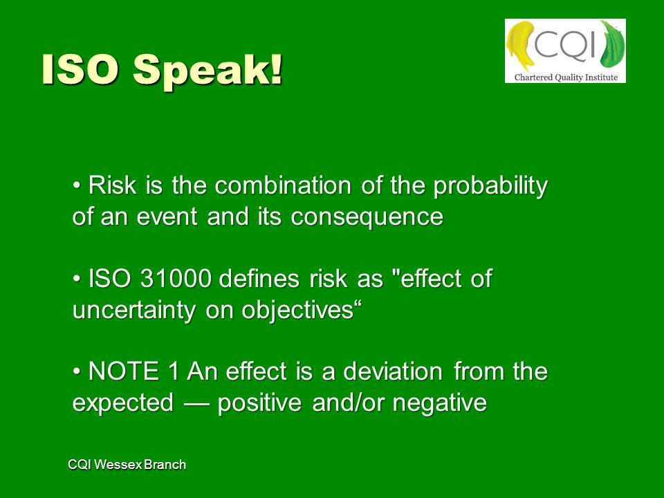 ISO Speak.