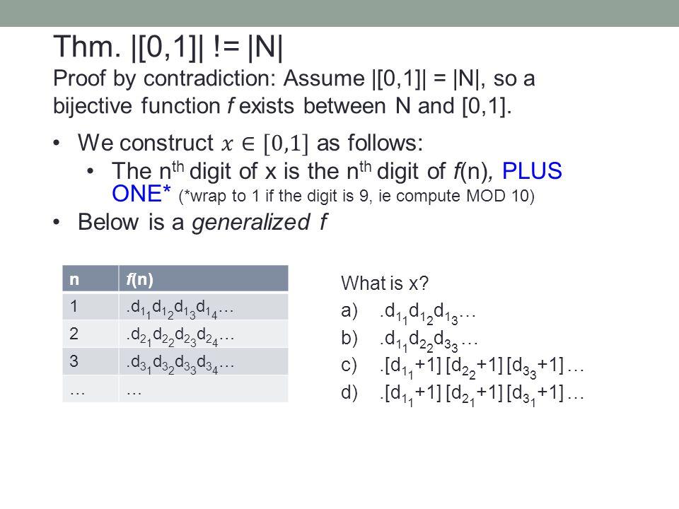 nf(n) 1.d 1 1 d 1 2 d 1 3 d 1 4 … 2.d 2 1 d 2 2 d 2 3 d 2 4 … 3.d 3 1 d 3 2 d 3 3 d 3 4 … …… What is x? a).d 1 1 d 1 2 d 1 3 … b).d 1 1 d 2 2 d 3 3 …