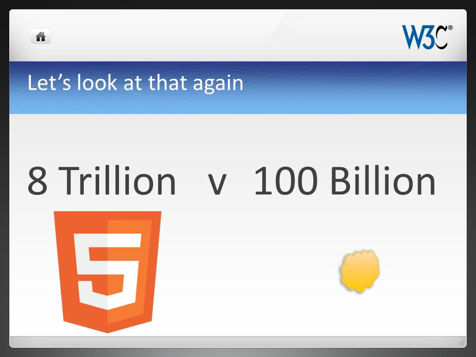 Let's look at that again 8 Trillion v100 Billion