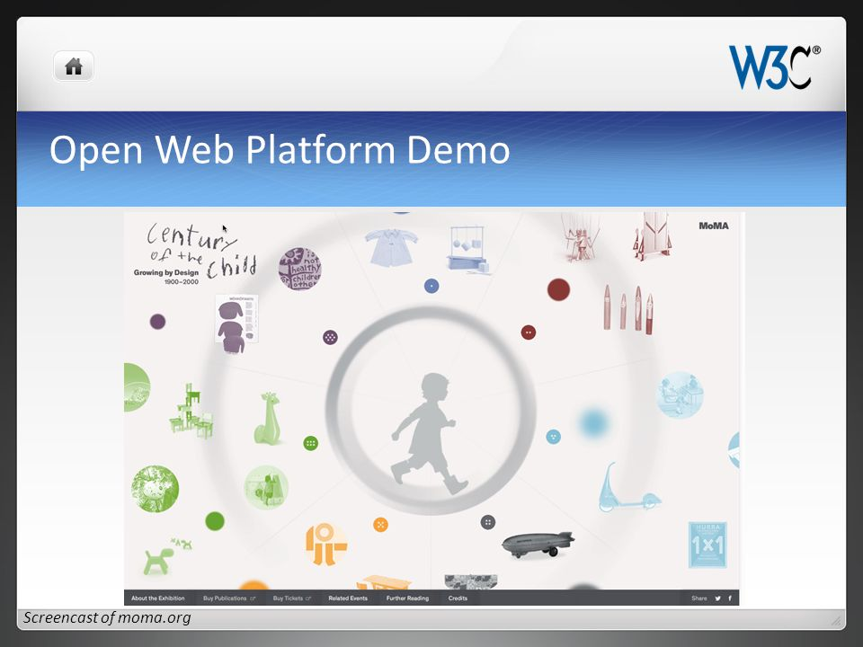 Open Web Platform Demo Screencast of moma.org