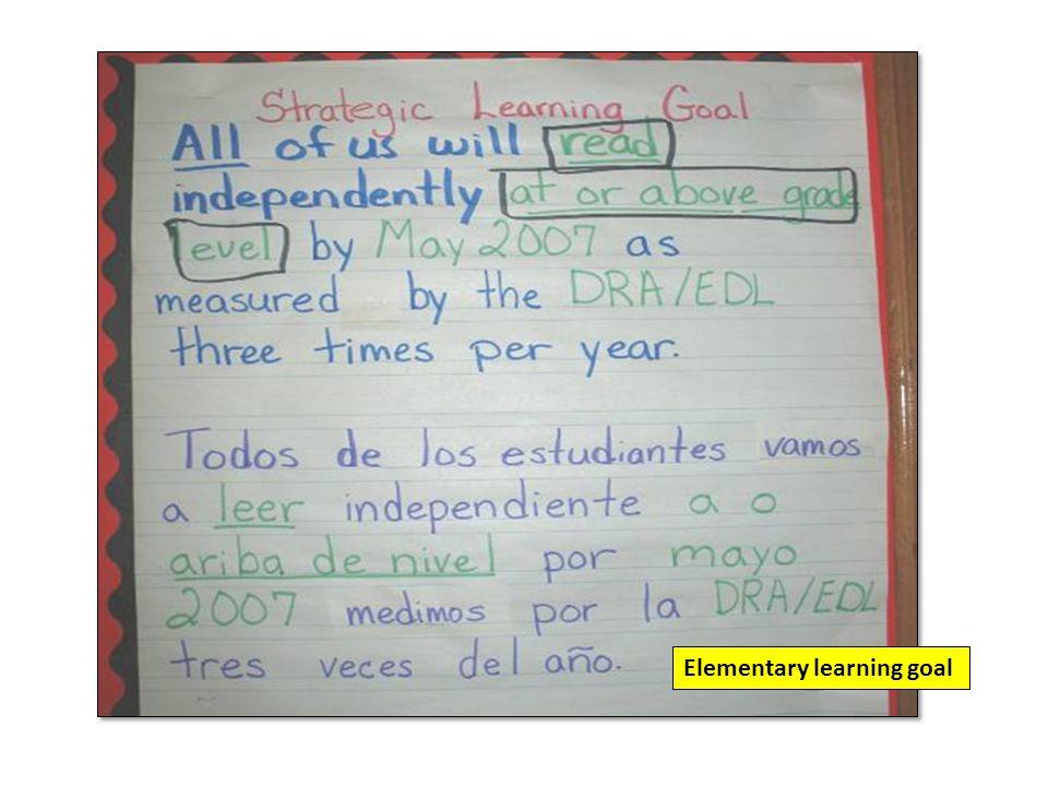 Elementary learning goal