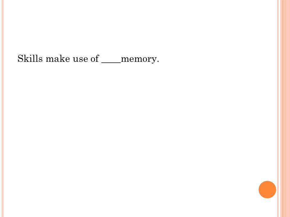 Skills make use of ____memory.