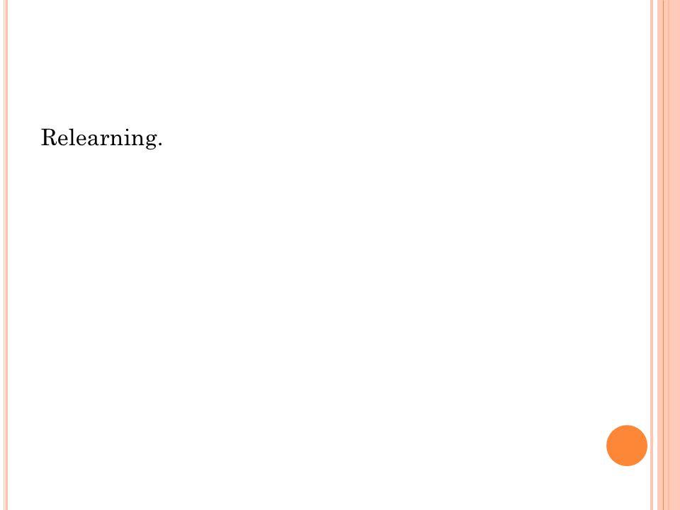 Relearning.