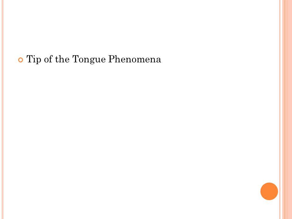 Tip of the Tongue Phenomena