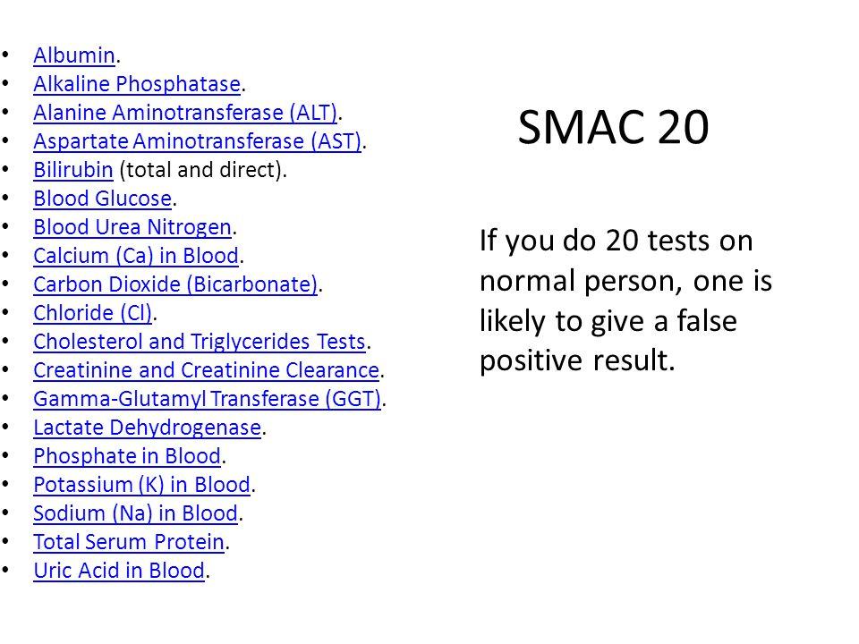 SMAC 20 Albumin. Albumin Alkaline Phosphatase.