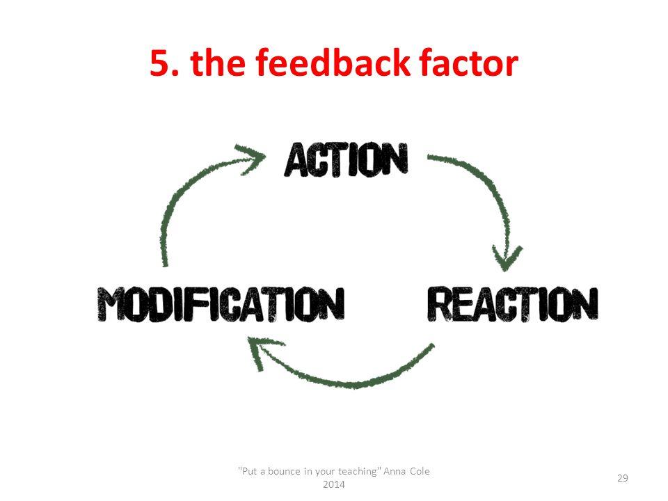 5. the feedback factor