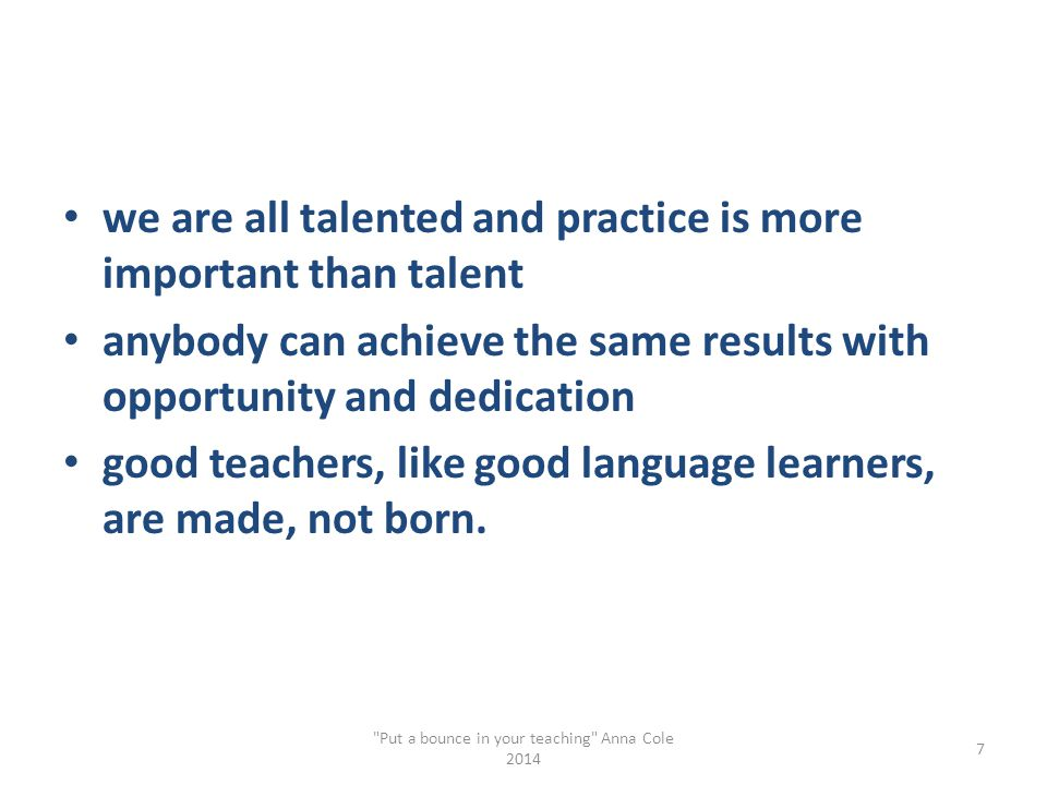 talent vs.effort quantity of practice Dr.