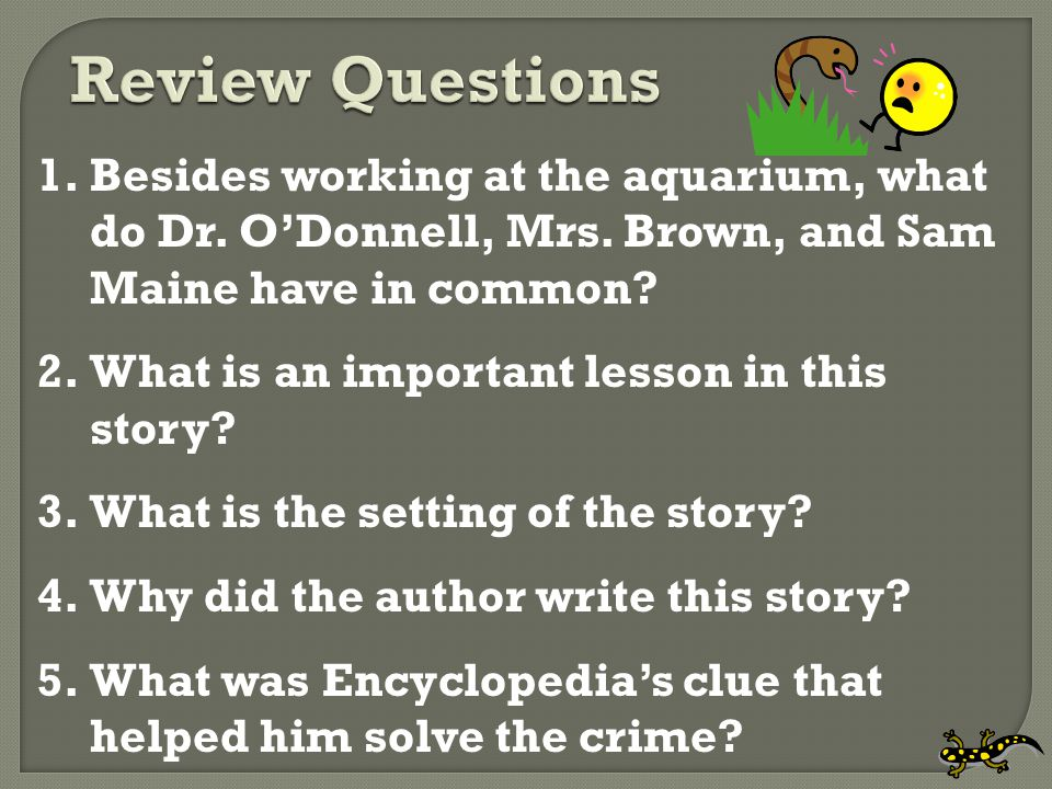  How is the Encyclopedia Brown story like and unlike a puzzle?
