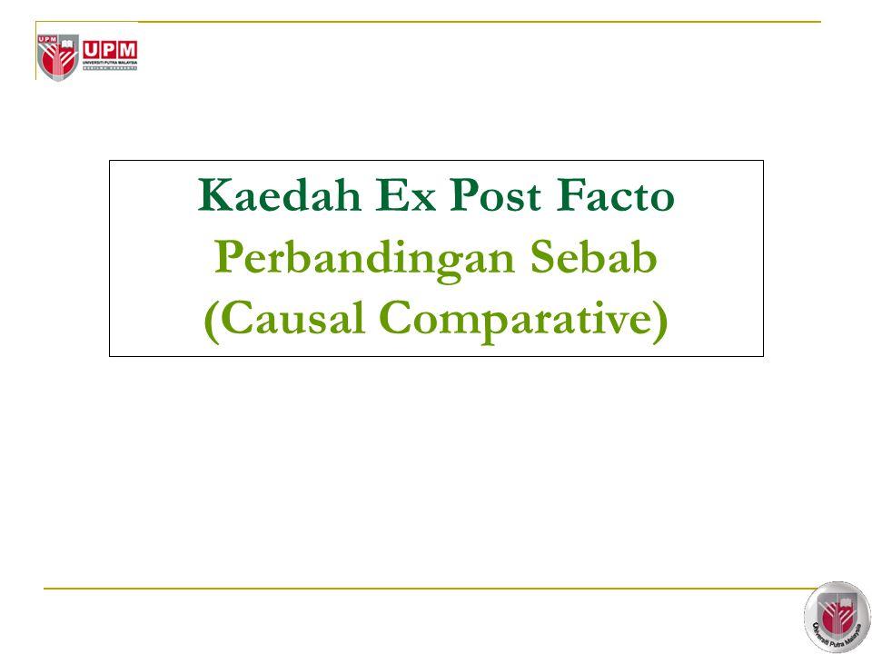 9 Kaedah Ex Post Facto Perbandingan Sebab (Causal Comparative)