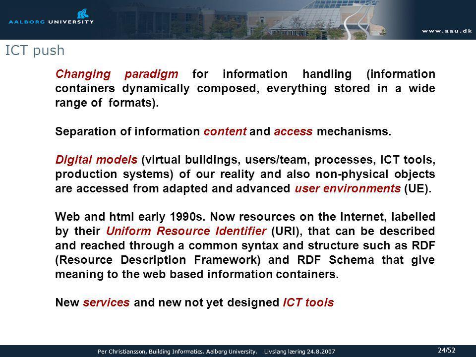 Per Christiansson, Building Informatics.Aalborg University.