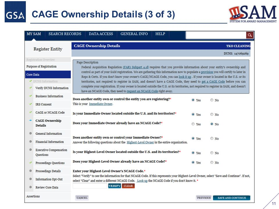 CAGE Ownership Details (3 of 3) 11