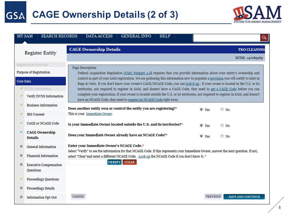 CAGE Ownership Details (2 of 3) 8