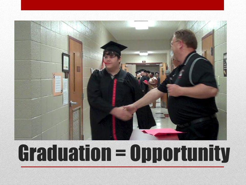 Graduation = Opportunity