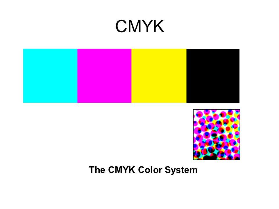 CMYK The CMYK Color System