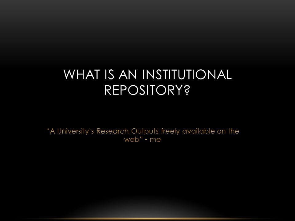 Institutional Repositories need to adapt to new requirements and demands.