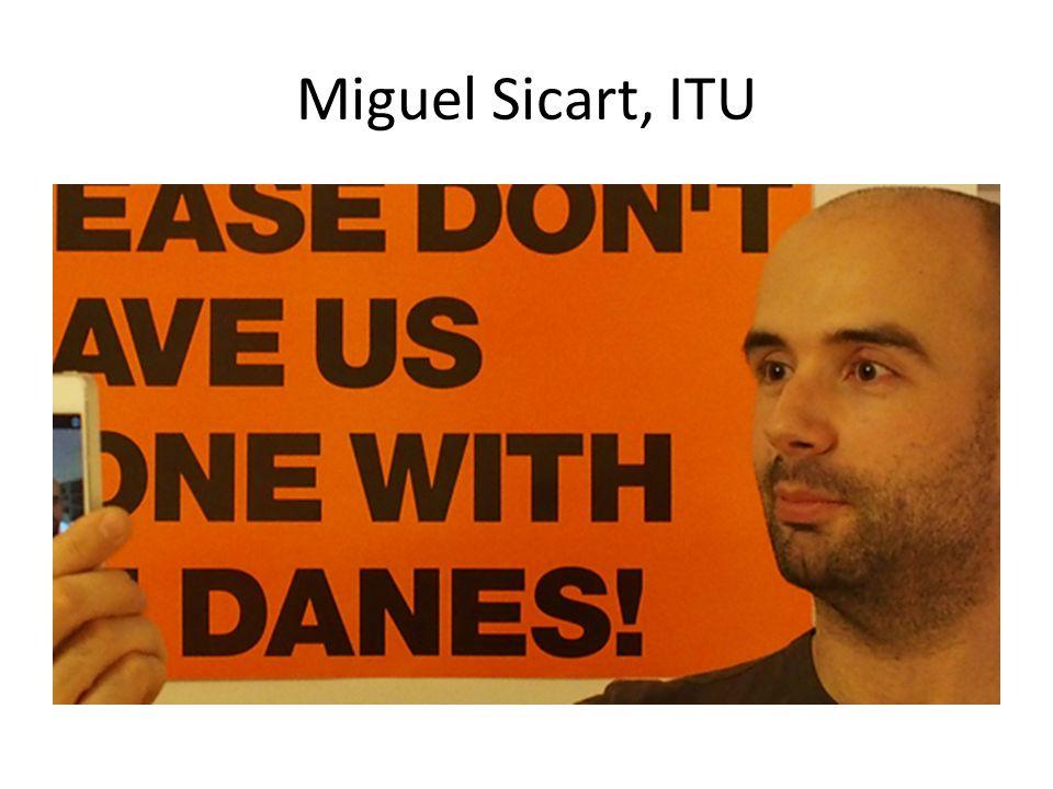 Miguel Sicart, ITU