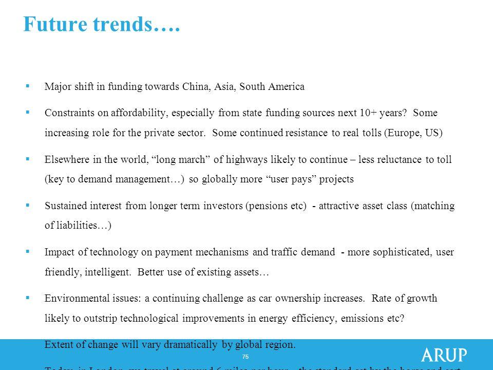 75 Future trends….