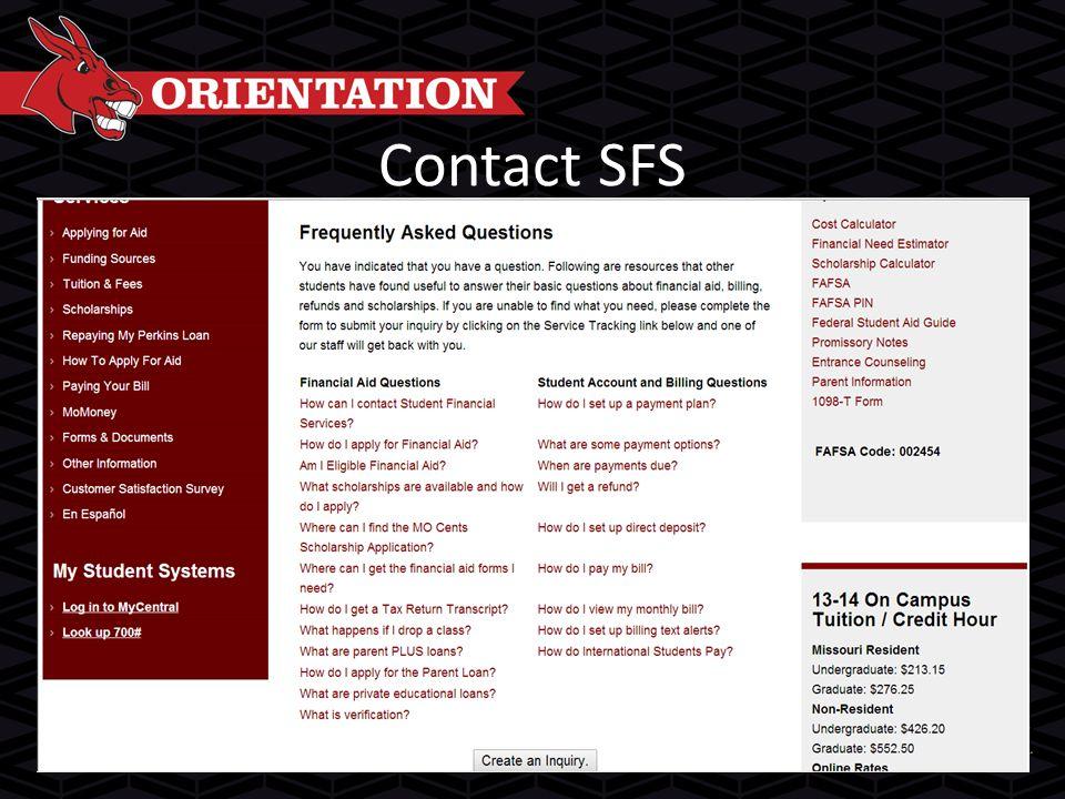Contact SFS