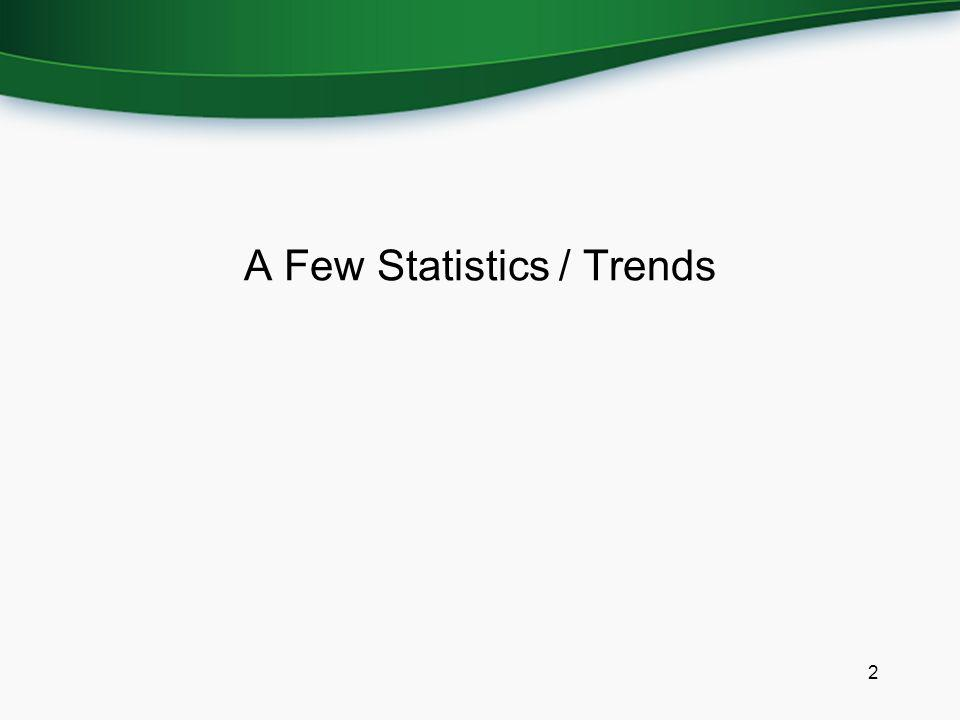A Few Statistics / Trends 2