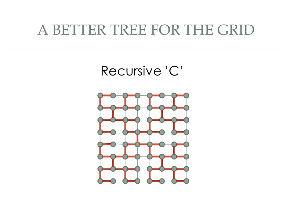 A BETTER TREE FOR THE GRID Recursive 'C'