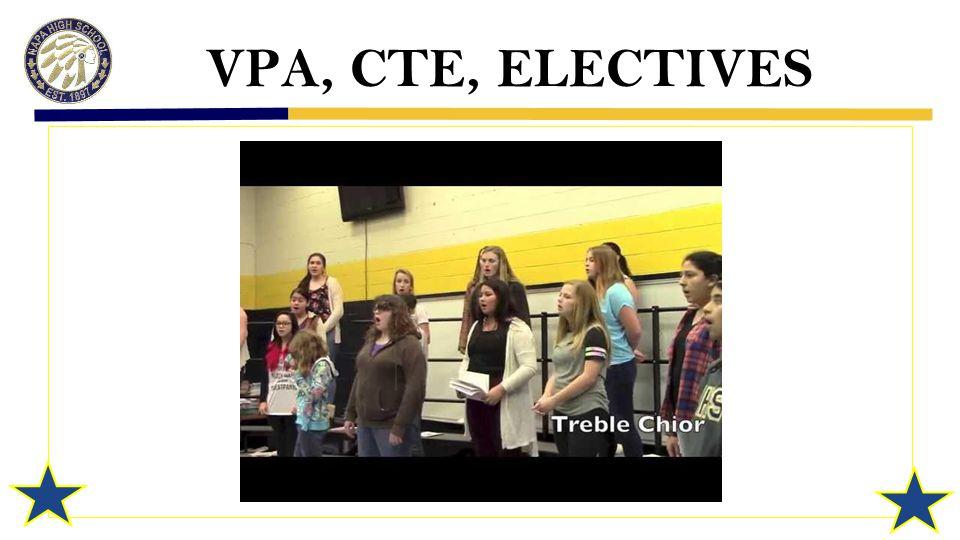 VPA, CTE, ELECTIVES