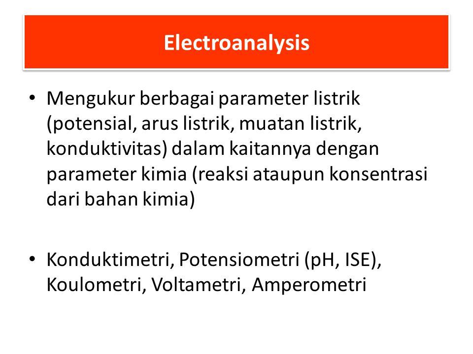 ELECTROANALISIS (Elektrometri) Potensiometri, Amperometri and Voltametri