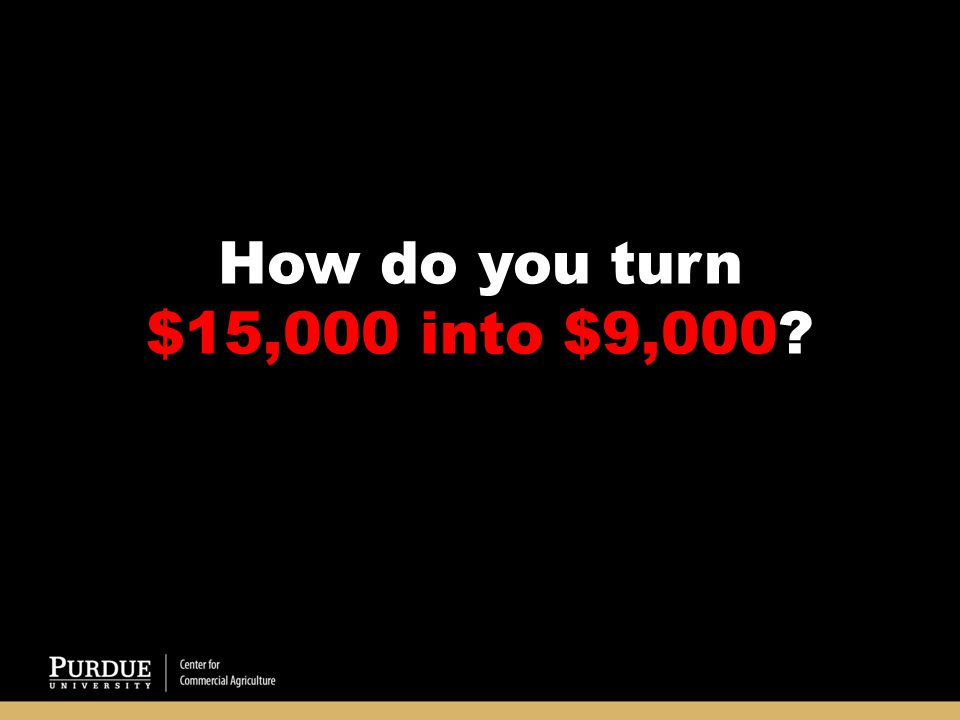 How do you turn $15,000 into $9,000