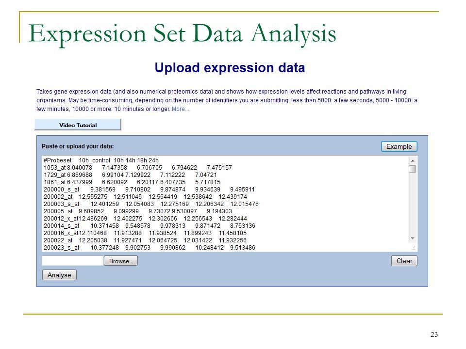 Expression Set Data Analysis 23
