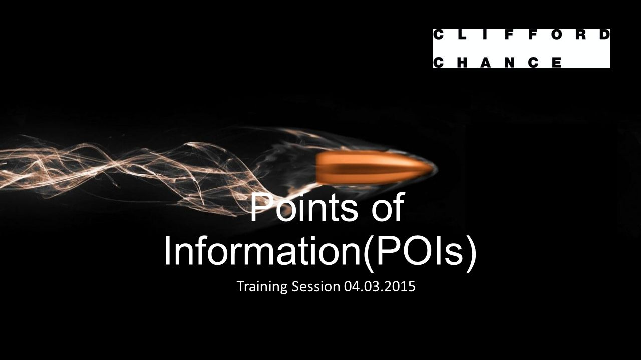 Points of Information(POIs)) Training Session 04.03.2015
