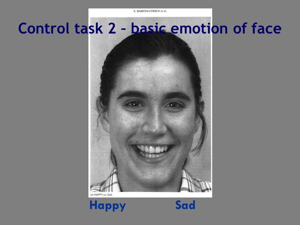 Happy Sad Control task 2 – basic emotion of face