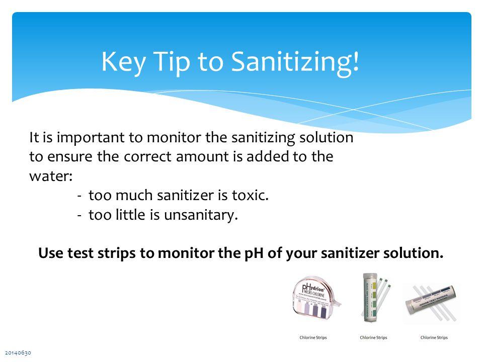 Key Tip to Sanitizing.
