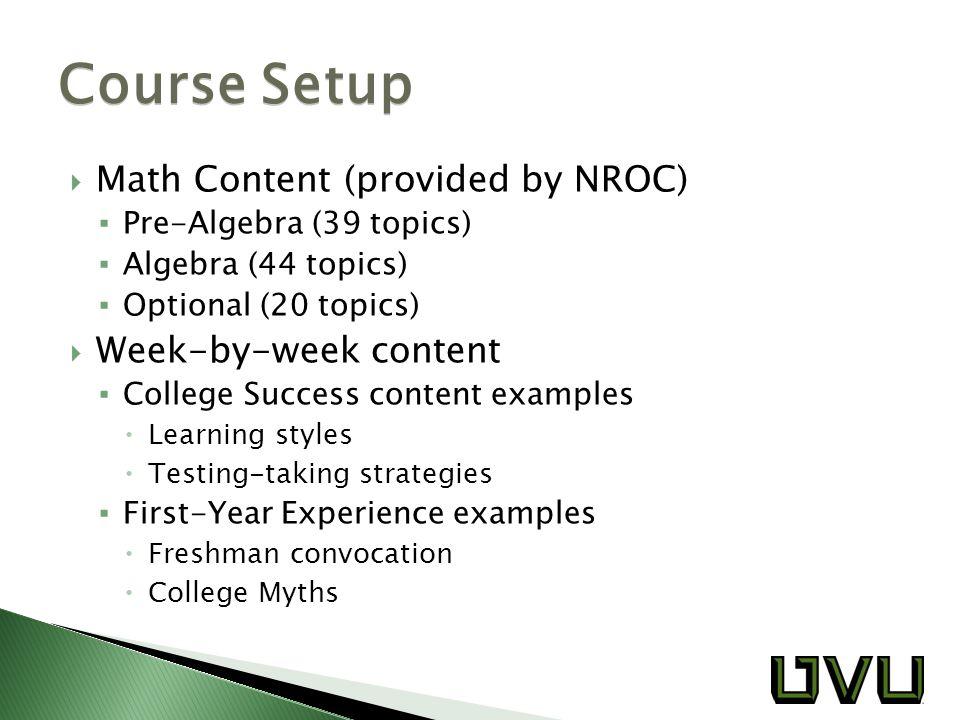  Jon Anderson: jonathana@uvu.edu  Keith White: whiteke@uvu.edu  Slides: ▪ contournc.com/teach/amatyc/mooc_slides.pdf  Handouts: ▪ contournc.com/teach/amatyc/mooc_handouts.pdf Contact