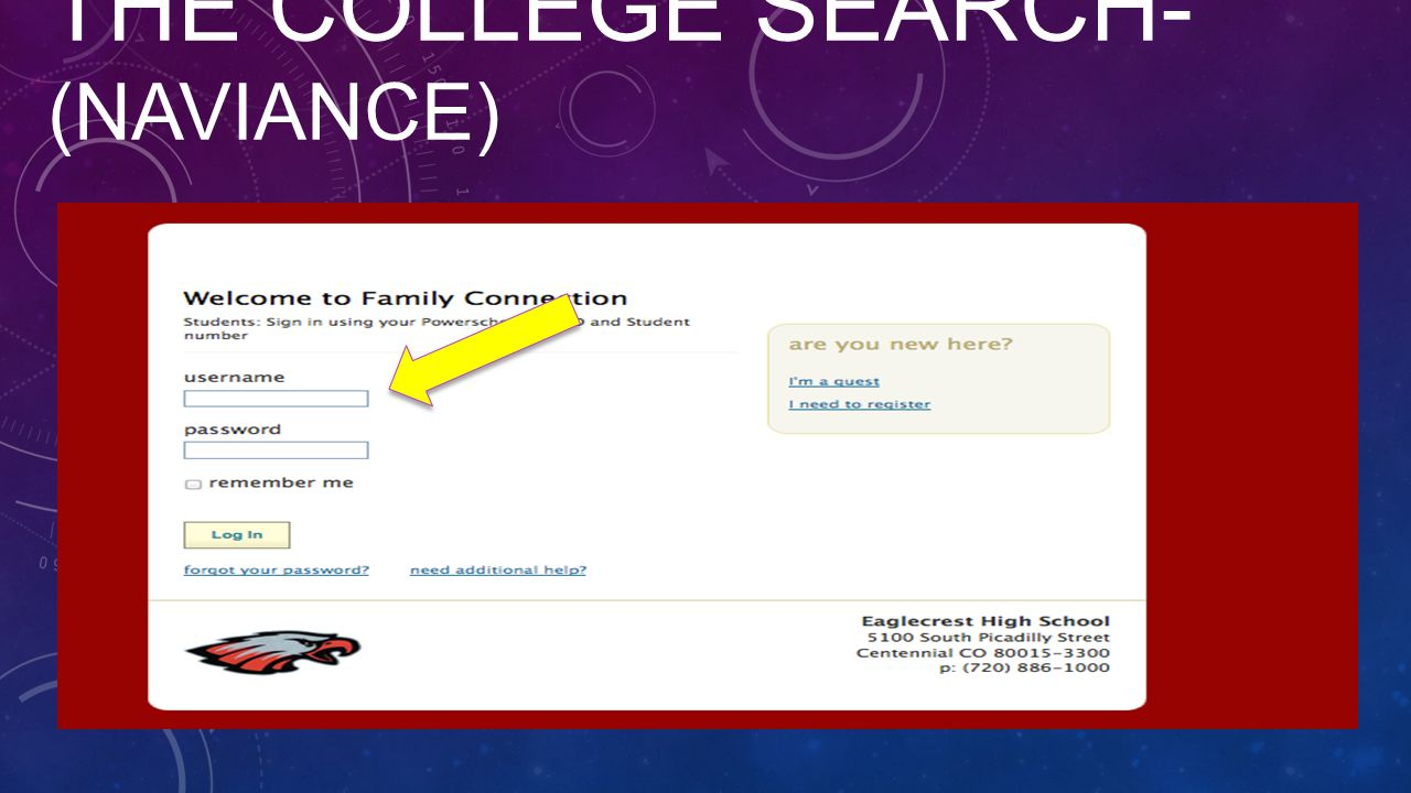 THE COLLEGE SEARCH- (NAVIANCE)