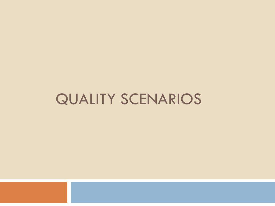 QUALITY SCENARIOS