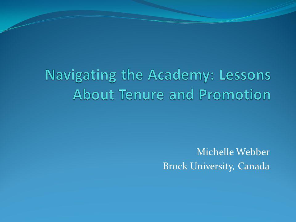 Michelle Webber Brock University, Canada