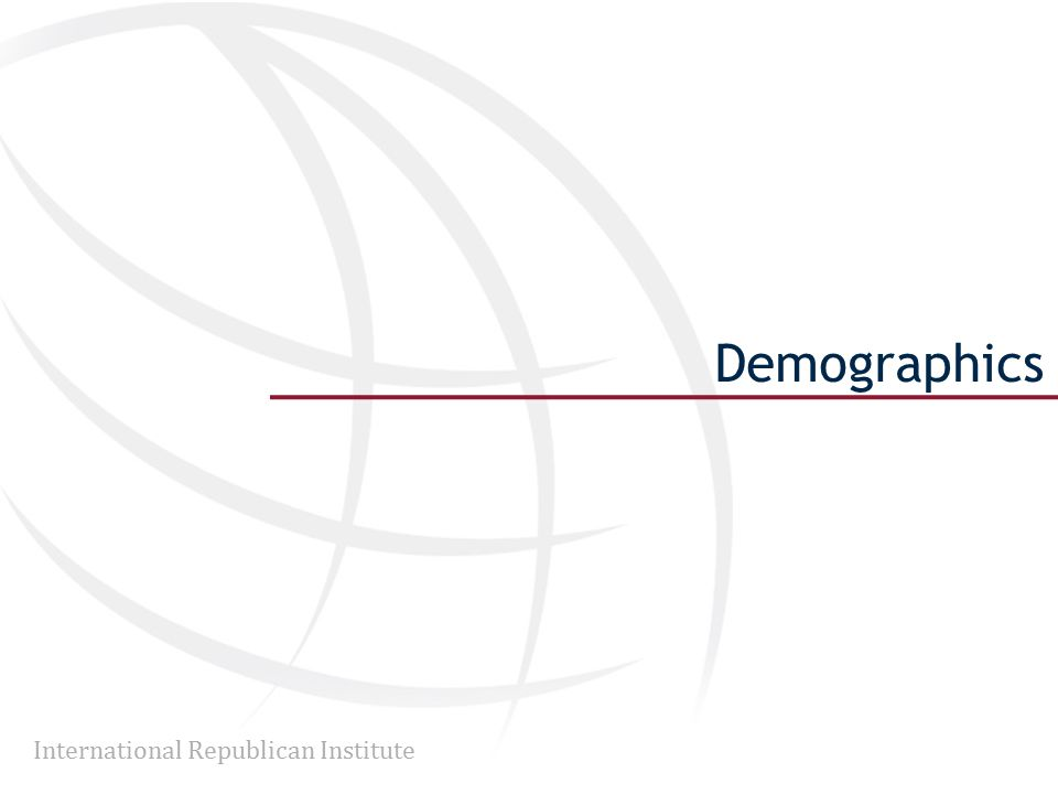 International Republican Institute Demographics