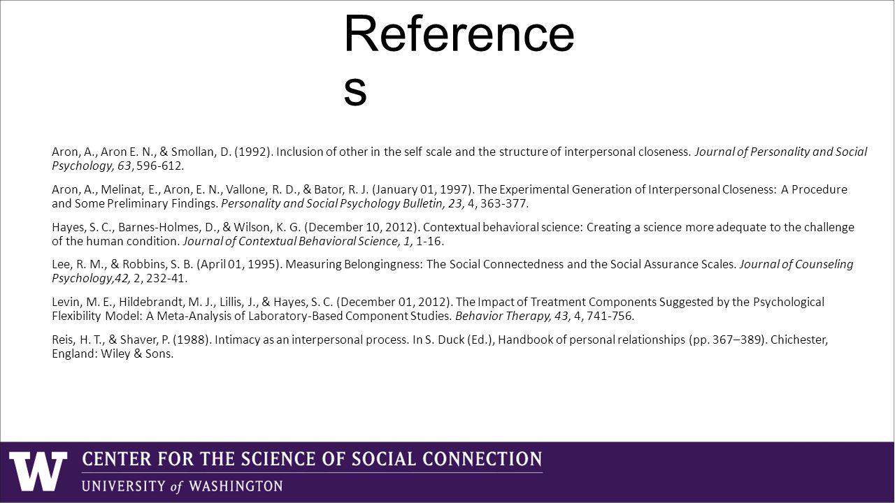 Reference s Aron, A., Aron E. N., & Smollan, D. (1992).