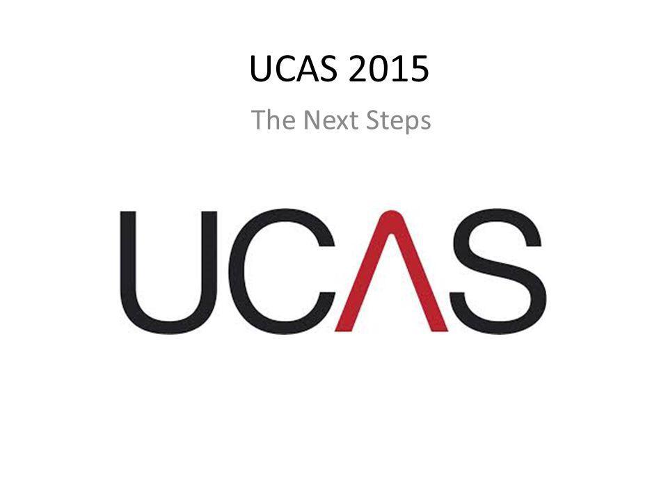 UCAS 2015 The Next Steps