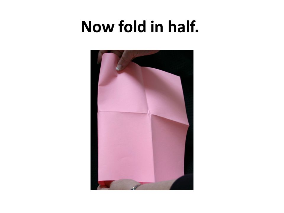 Now fold in half.