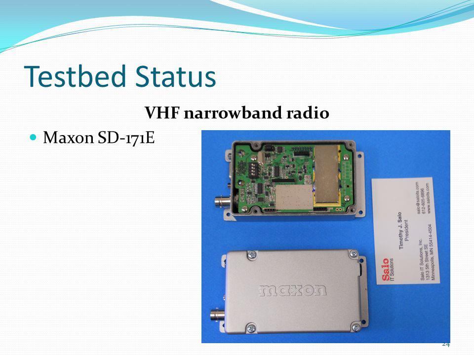Testbed Status VHF narrowband radio Maxon SD-171E 24