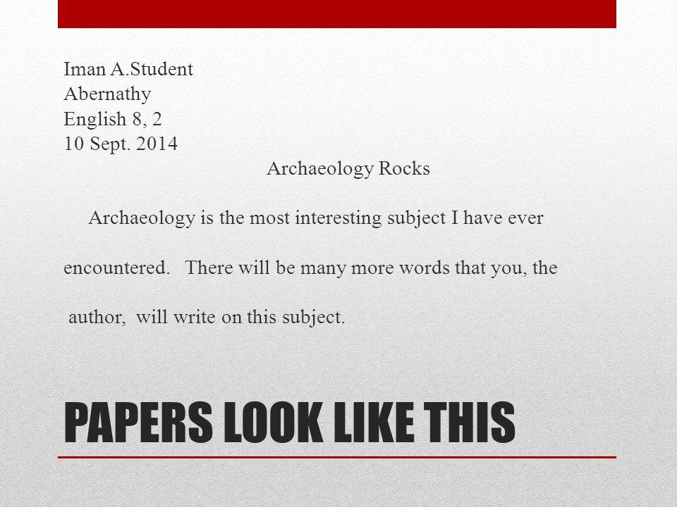 NOT THIS Ima C.Student Abernathy English 8, 2 4 Nov.