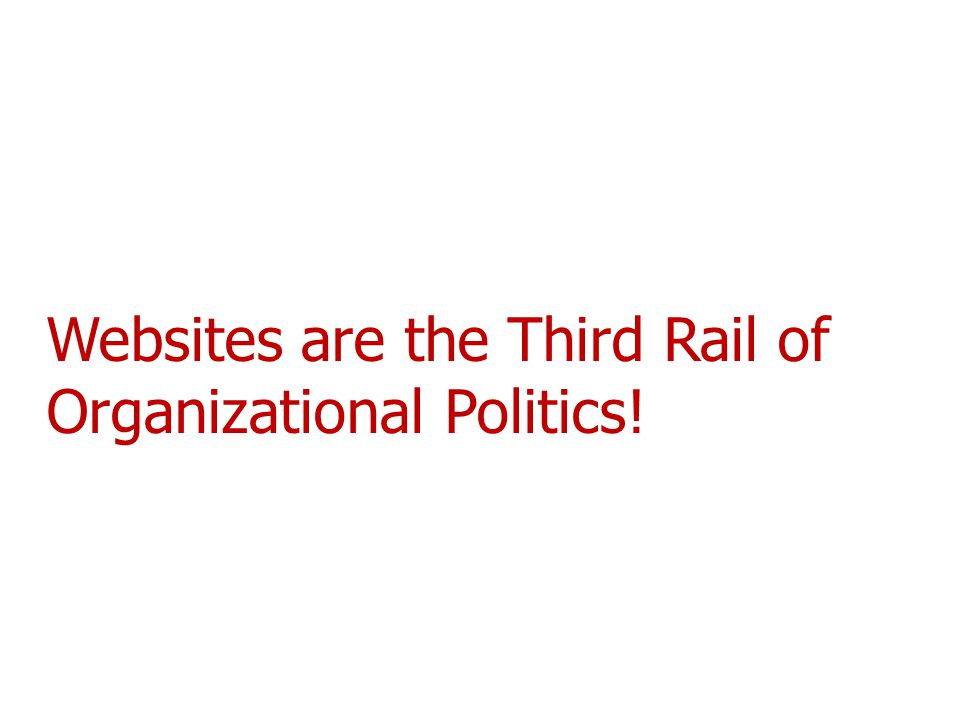 Websites are the Third Rail of Organizational Politics!