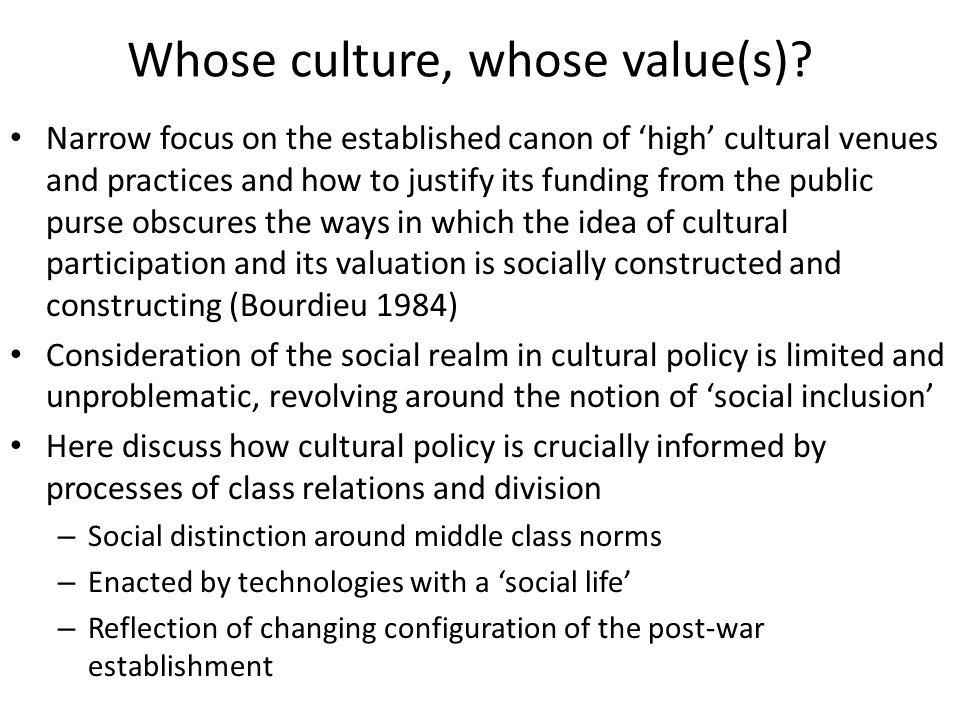 Whose culture, whose value(s).